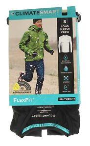 ClimateSmart Men's Lightweight FlexFit Base Layer Long Sleeve Crew Shirt Top