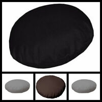 """Plain Dyed 100% Cotton Round Cushion Cover 16"""" to 20"""" Sizes Available 3 colours"""