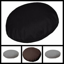 "Plain Dyed 100% Cotton Round Cushion Cover 16"" to 20"" Sizes Available 3 colours"