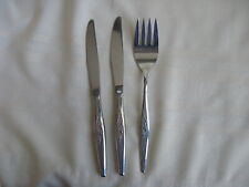 New listing Oneida Community Stainless Woodmere Serve Fork & Dinner Knives 3 Pieces