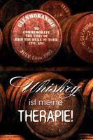 Whisky Est ma Thérapie Panneau Métallique Plaque Voûté Étain Signer 20 X 30 CM