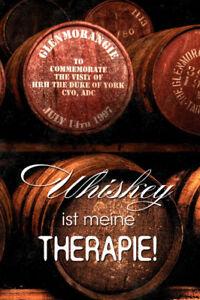 Whisky Whiskey ist meine Therapie Blechschild Schild Tin Sign 20 x 30 cm R0299