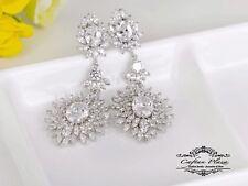 Pendientes Lujo Circonia AAA Chandelier XXXL Stellux™ Cristales 18k Plt