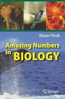 Amazing Numbers in Biology, Rainer Flindt, New
