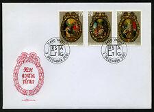 Liechtenstein 2001 FDC Mi 1275-1277 Weihnachten Medaillons; Maria Christi Geburt