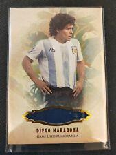 Diego Maradona 2020 Futera Enganche Game Used Jersey Patch 19/19 Argentina Boca