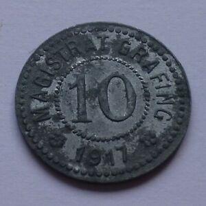 Notgeld: Germany, Grafing 10 Pfennig 1917, War money, Emergency coin