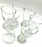 "Vintage Anchor Hocking ""Boopie"" Juice 41/4"" Glasses Set Of Six"