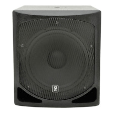 "QTX QL15B Active Subwoofer 15"" Bass Bin Speaker DJ Disco 1000W"