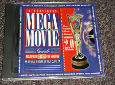 Infobusiness Mega Movie Guide 2.0 1993 vintage cd-rom Windows 386