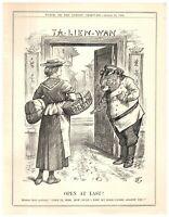 1899 Russian Bear Opens Port Arthur Dalian to Free Trade Punch Cartoon `18P