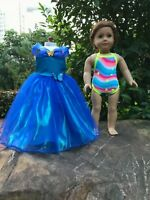 "Cinderella dress Swimwear Doll Clothes for American girl 18"" doll clothes 2pc"