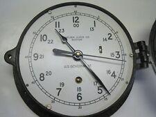 "New ListingChelsea Us Gorverment Clock 6"" For Repair"