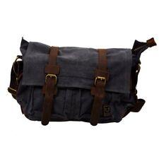 3X(MUCHUAN Sac vintage a bandouliere de toile en cuir pour homme, sac de Me T2I6
