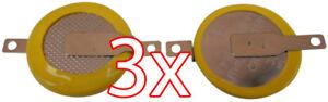 3 X CR1616 3V Batterie mit Lötfahnen Knopfzelle Tabs Gameboy Spiele Pokemon usw.