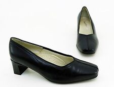 Pumps Hush Puppies Blockabsatz Echtleder schwarz Gr. 3,5 = 36,5 H