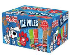 60 x 80ml Original Slush Puppie Puppy Ice Lollies Poles Summer BBQ Kids Party UK