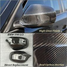 BMW 3 Series E90 LCI Carbon Fibre Wing Mirror Covers *CLIP ON* 2009-2012 Models