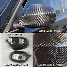 BMW 3 Series E90 LCI FIBRA DE CARBONO RETROVISOR LATERAL FUNDA CLIP 2009-2012