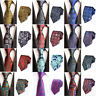 Men Fashion Floral Paisley Striped Jacquard Tie Wedding Party Business Necktie