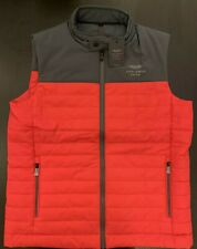 Hackett Aston Martin Quilted Gilet Jacket Red Large- Cheaper than the oultet!