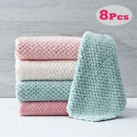 Soft Microfiber Kitchen Towels Super Absorbent Dish Cloth Anti-grease Wipping