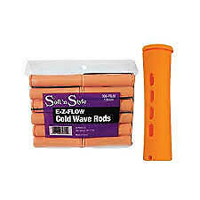 SOFT 'N STYLE E-Z-FLOW COLD WAVE RODS -  JUMBO TANGERINE DZ