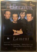 "Rolled 1984 Ultravox Lament Tour Rare Promo Poster Ad  27x38"" Chrysalis Records"