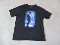 Michael Jackson Concert Shirt Adult Extra Large Black Band Tour King Of Pop Mens