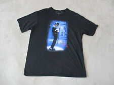 Michael Jackson Concert Shirt Adult Extra Large Black Band Tour King Of Pop Mens