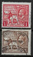 SG432/3.  1925 Wembley Pair. Fine/V.Fine Used With Full Perfs.  Ref:0740