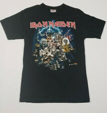 "IRON MAIDEN ""BEST OF THE BEAST"" 2007 Distressed Band Tee Black T-Shirt Sz Small"