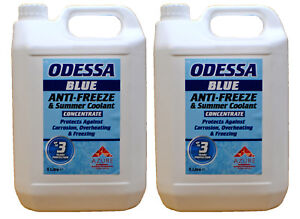 Odessa Blue Antifreeze & Summer Coolant Concentrate For All Engine Types - 5Lx2