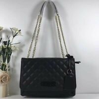 Guess Elliana Quilted Look Crossbody Bag In Black