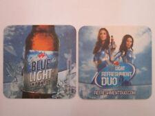 2010 Beer Brewery Coaster ~ LABATT Blue Light Refreshment Duo ~ Canadian Pilsner