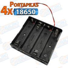 PORTAPILAS 4x 18650 3,7v cable alimentacion PCB bateria Battery holder