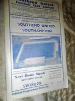 1957/8 DIV 3 SOUTH SOUTHEND UNITED V SOUTHAMPTON