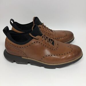 Cole Haan 4.Zerogrand Men's Wingtip Oxford British Tan Size 11 C31884