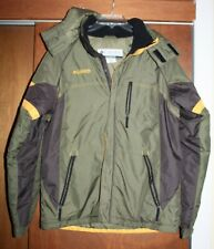 COLUMBIA 100% POLYESTER HOODED OLIVE GREEN WINTER JACKET SIZE 18-20