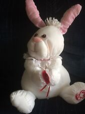 1986 FISHER PRICE BABY BUNNY PUFFALUMP HOLDING A RED HEART  MINT TAG VHTF