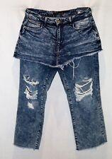 ZARA Trafaluc Brand Blue Acid Wash Denim Jean Skirt Size 10 BNWT #SY24