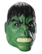 Hulk Máscara De 3/4, Para Hombre Accesorio Disfraz de Marvel Comics