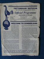 Tottenham Hotspur v Sunderland 15/3/58 Programme