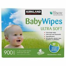 Kirkland Signature Baby Wipes 900-count, Extra-Large, with Aloe & Chamomile