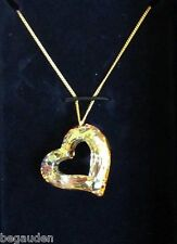 Swarovski Love Heart Golden Shadow Pendant Necklace Jewelry - 1123372 - Nib