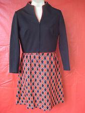 Vintage Dress Black Top & Red Geometric print Bottom  Haypence