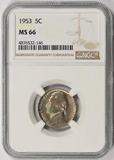 1953 Jefferson Nickel 5C MS 66 NGC