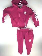True Religion Sweat suit Infant Girls 18 Months PINK Sweatshirt Jogging Pants