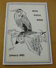 Nova Scotia Birds newsletter Volume 24 Number 1 Winter January 1982 vtg BIRDING