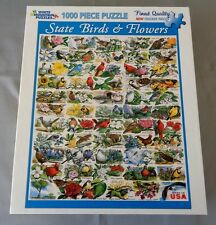 2012 WHITE MOUNTAIN PUZZLES 1000 PIECE STATE BIRDS AND FLOWERS PUZZLE USED